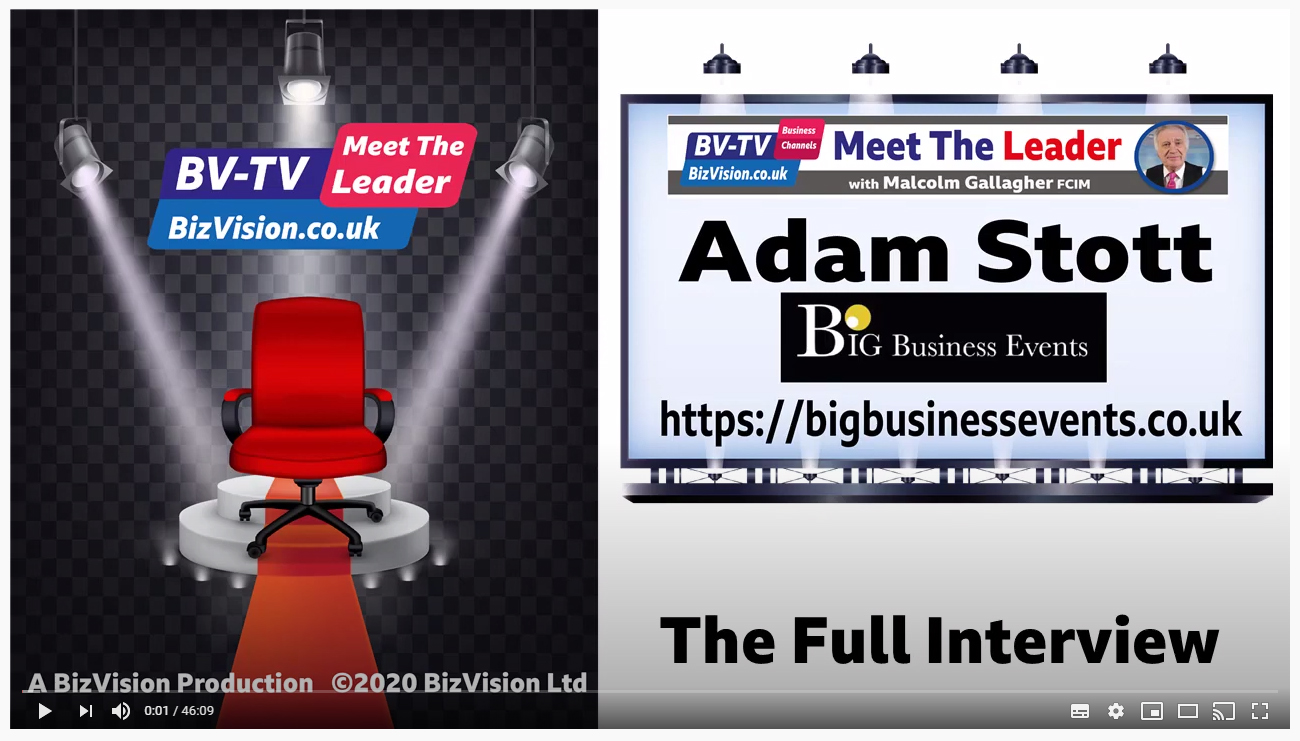 Adam Stott features on Biz Vision Hub 'Meet The Leader'