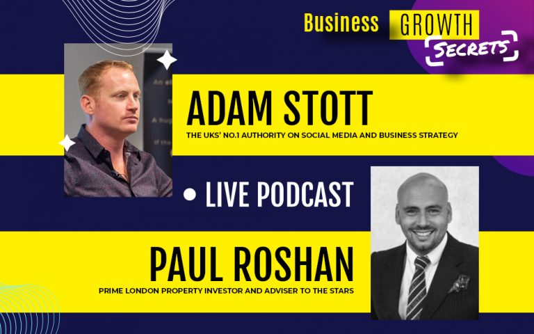 Business Growth Secrets Live Podcast With Special Guest Paul Roshan